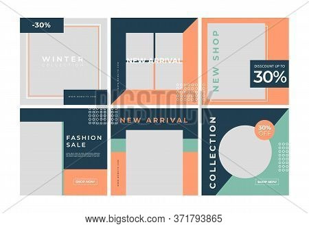 Social Media Post Template For Digital Marketing And Sale Promo. Fashion Advertising, Shopping Banne