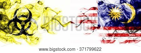 Malaysia, Malaysian Quarantine. Coronavirus Covid-19 Lockdown. Smoky Mystic Flag Of Malaysia, Malays
