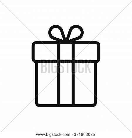 Gift Box Icon Isolated On White Background. Gift Box Icon In Trendy Design Style. Gift Box Vector Ic