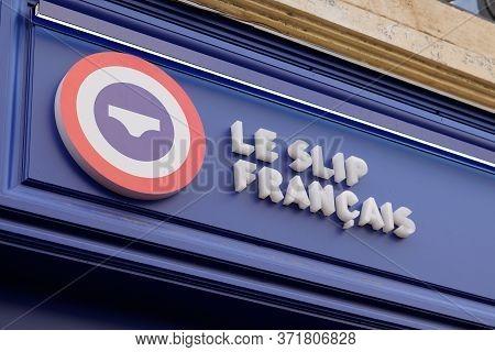 Bordeaux , Aquitaine / France - 09 18 2019 : Store Logo Of Le Slip Francais Means French Briefs Sign