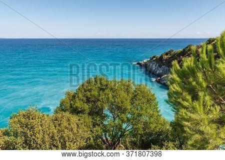 Nd. Greece.sulfur Beach Xigia On Zakynthos Island. Greece.