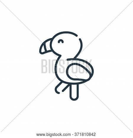 flamingo icon isolated on white background from  collection. flamingo icon trendy and modern flaming
