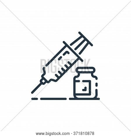 injection icon isolated on white background from  collection. injection icon trendy and modern injec