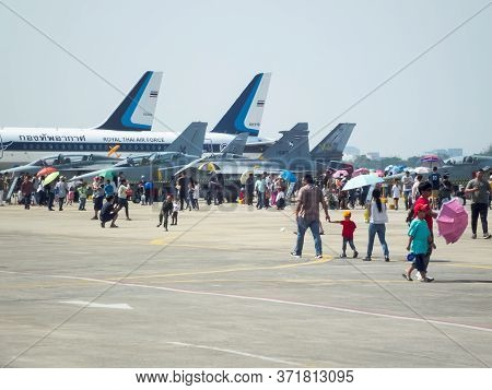 Royal Thai Air Force Don Muang Bangkok Thailand-12 January 2019:national Children's Day, The Royal T