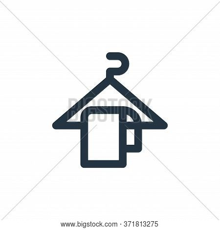 hanger icon isolated on white background from  collection. hanger icon trendy and modern hanger symb