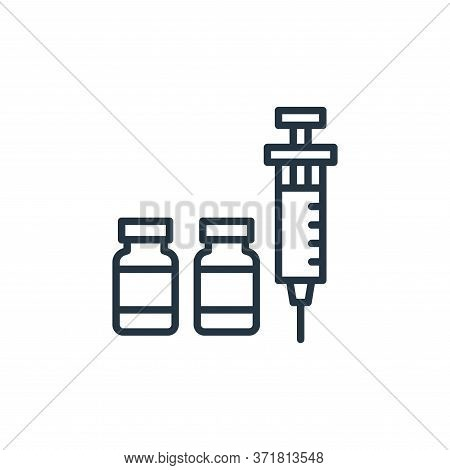 vaccine icon isolated on white background from  collection. vaccine icon trendy and modern vaccine s