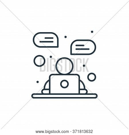 online chat icon isolated on white background from  collection. online chat icon trendy and modern o