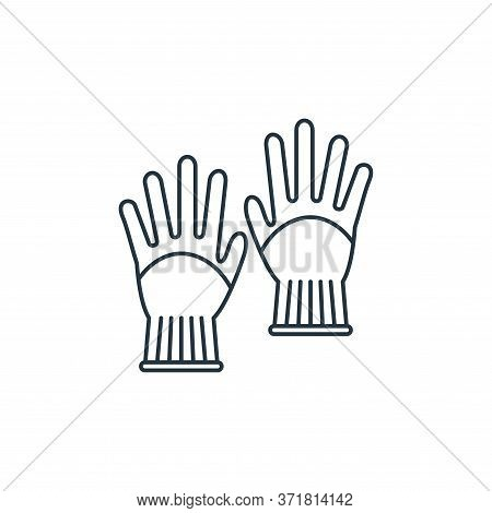 gloves icon isolated on white background from  collection. gloves icon trendy and modern gloves symb