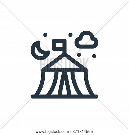 camping tent icon isolated on white background from  collection. camping tent icon trendy and modern