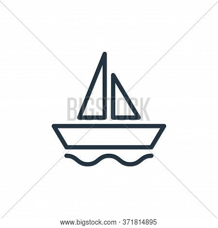 sailing ship icon isolated on white background from  collection. sailing ship icon trendy and modern
