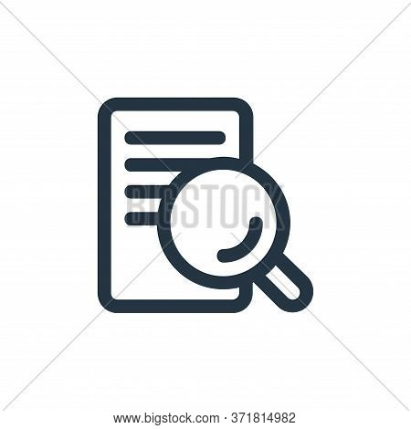 search file icon isolated on white background from  collection. search file icon trendy and modern s