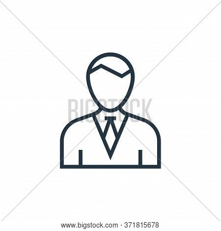 businessman icon isolated on white background from  collection. businessman icon trendy and modern b