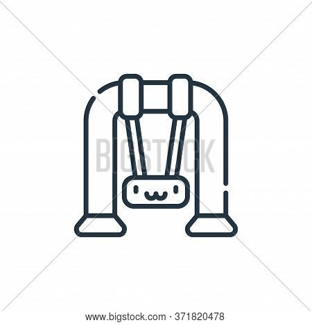swing icon isolated on white background from  collection. swing icon trendy and modern swing symbol