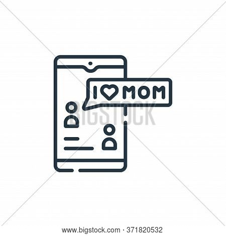 text message icon isolated on white background from  collection. text message icon trendy and modern