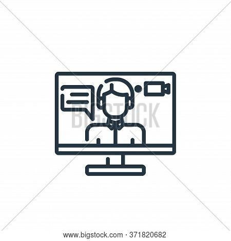 Recording Vector Icon Isolated On White Background.