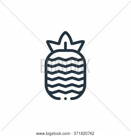 pineapple icon isolated on white background from  collection. pineapple icon trendy and modern pinea