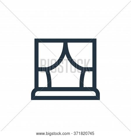 curtains icon isolated on white background from  collection. curtains icon trendy and modern curtain
