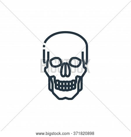 skull icon isolated on white background from  collection. skull icon trendy and modern skull symbol