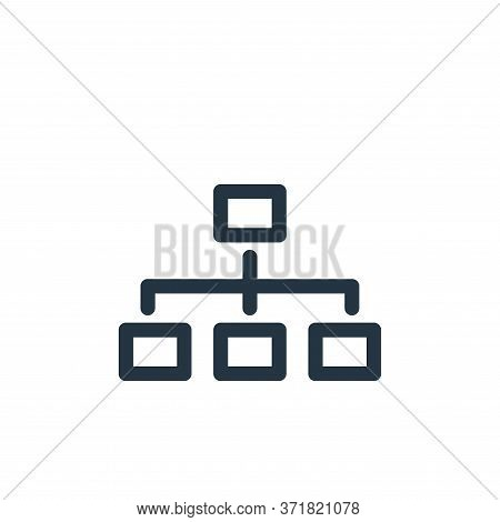 organization icon isolated on white background from  collection. organization icon trendy and modern
