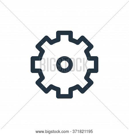 gear icon isolated on white background from  collection. gear icon trendy and modern gear symbol for