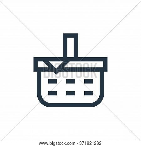 picnic basket icon isolated on white background from  collection. picnic basket icon trendy and mode