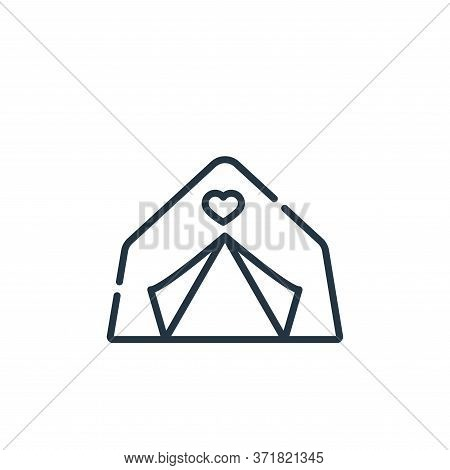 tent icon isolated on white background from  collection. tent icon trendy and modern tent symbol for