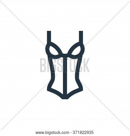 Corset Vector Icon Isolated On White Background.