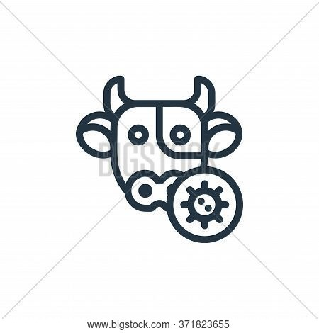 cow icon isolated on white background from  collection. cow icon trendy and modern cow symbol for lo