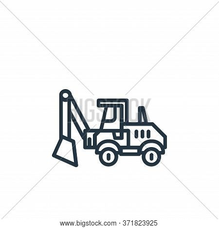 excavator icon isolated on white background from  collection. excavator icon trendy and modern excav