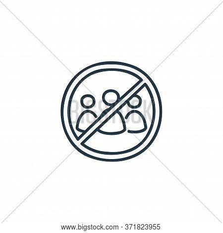 no group icon isolated on white background from  collection. no group icon trendy and modern no grou