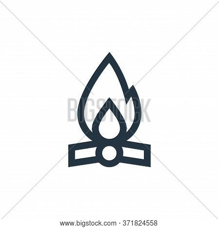 bonfire icon isolated on white background from  collection. bonfire icon trendy and modern bonfire s