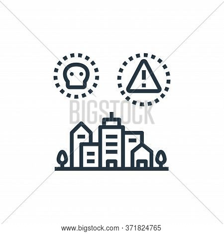 threat icon isolated on white background from  collection. threat icon trendy and modern threat symb