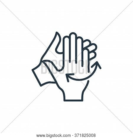 washing hands icon isolated on white background from  collection. washing hands icon trendy and mode
