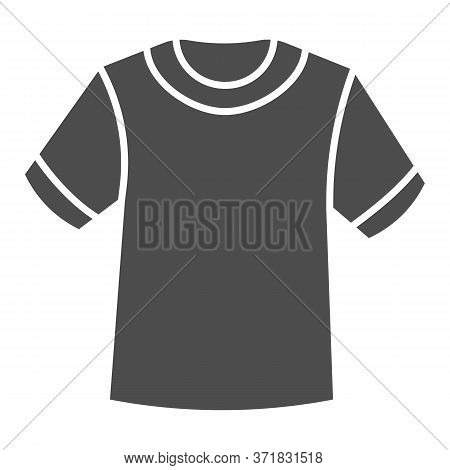 T-shirt Solid Icon, Summer Clothes Concept, Unisex Shirt Sign On White Background, Casual T-shirt Ic