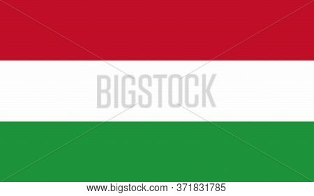 Hungarian Flag, Official Colors And Proportion Correctly. National Hungarian Flag. Vector Illustrati