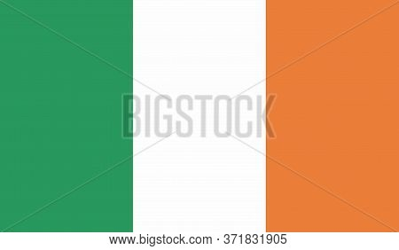 Ireland Flag, Official Colors And Proportion Correctly. National Ireland Flag. Vector Illustration.