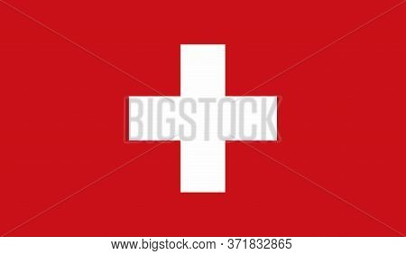 Switzerland Flag, Official Colors And Proportion Correctly. National Switzerland Flag. Vector Illust