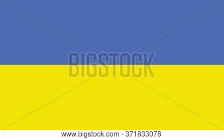Ukrainian Flag, Official Colors And Proportion Correctly. National Ukrainian Flag. Vector Illustrati