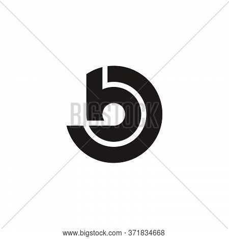 Abstract Letter Bd Geometric Line Circle Design Logo Vector