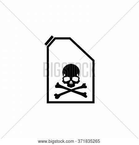 Crossbones. Death Skull, Danger Vector Or Flat Vector Poison For Applications And Websites, Poison V