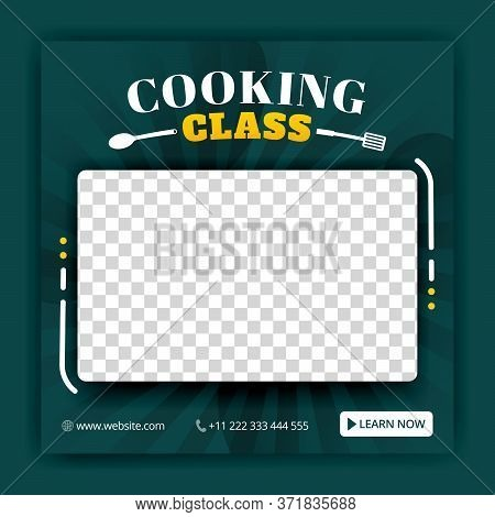 Cooking Class For Social Media Posts And Ads Templates. Ads For Online Courses. Can Be Used For Onli
