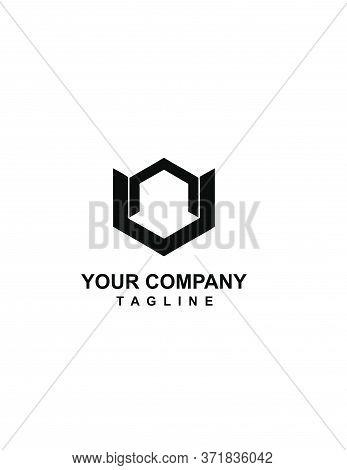 Nv, Vn, Nov, Nu, Un Von, Uon Initials Geometrical Logo And Vector Icon