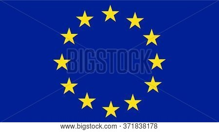 Europe Or European Flag,textured Background, Symbols Of Europe Or European - Vector Illustration