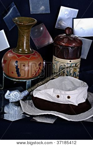 Still life with a hat,