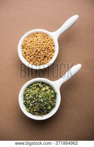 Kasoori Methi Or Dried Fenugreek Leaves