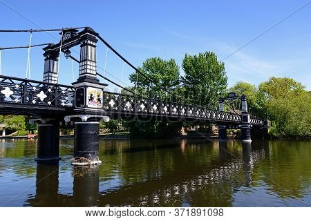 View Of The Ferry Bridge Also Known As The Stapenhill Ferry Bridge And The River Trent, Burton Upon