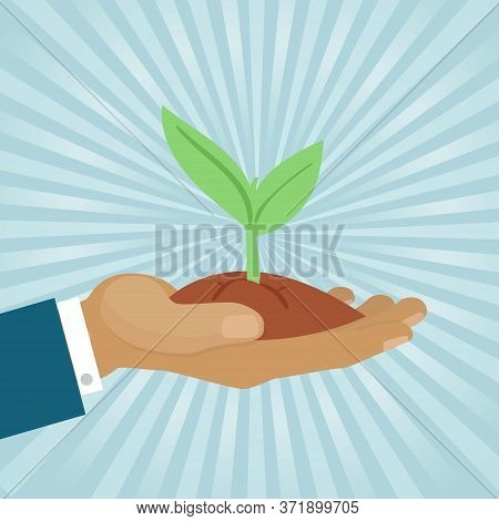 Eco System Concept, Clean Environment, Hands Protect Earth, Creative Conception, Design, Cartoon Sty