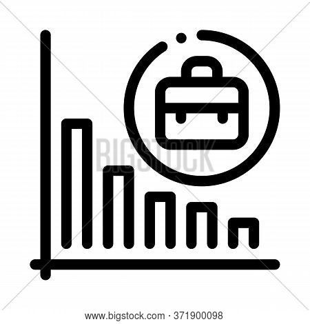 Recession Of Business Job Offers Icon Vector. Recession Of Business Job Offers Sign. Isolated Contou