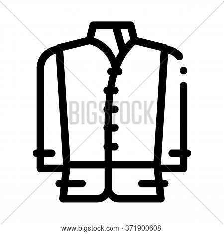Kind Of National Men Costume Icon Vector. Kind Of National Men Costume Sign. Isolated Contour Symbol