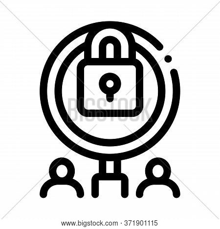 Closure Of Knowledge For Research Icon Vector. Closure Of Knowledge For Research Sign. Isolated Cont
